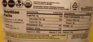 Navitas Naturals Organic Goldenberries Andean Superfruit nutrition facts