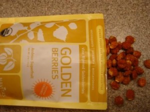 Navitas Naturals Organic Goldenberries Andean Superfruit out of the package