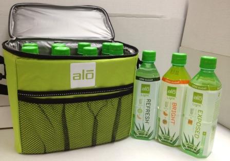 August 2013 Antioxidant-fruits.com Giveaway: Alo Cooler bag with 8 bottles of New Alo-Light