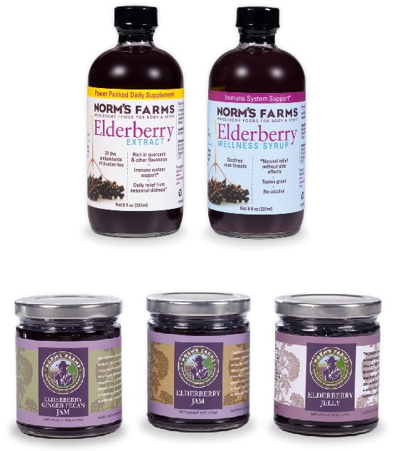 March 2014 Antioxidant-fruits.com Giveaway: Norm's Farms Elderberry Products