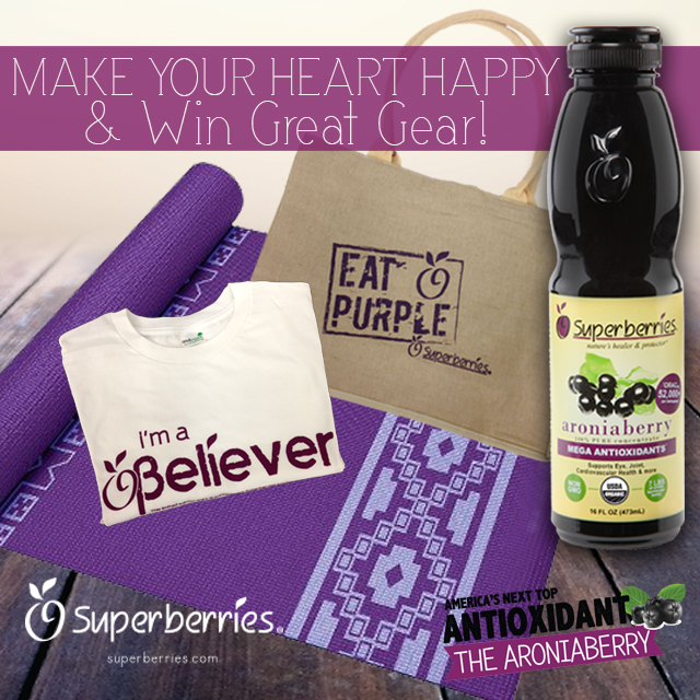 February 2015 Antioxidant-fruits.com Giveaway: Superberries Heart Month Gift Basket