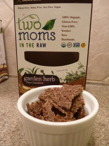 Two Moms in The Raw Gluten Free Organic Sea Cracker Garden Herb Product Review