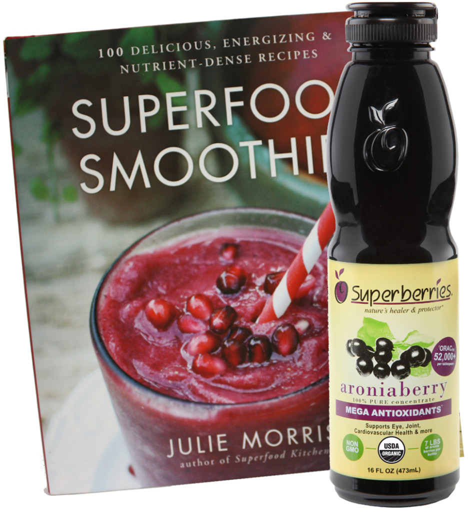 April 2015 Antioxidant-fruits.com Giveaway: Superberries Bottle of Concentrate and Superfood Smoothies Book by Julie Morris
