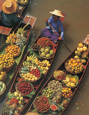 Fruit Boats in Thailand